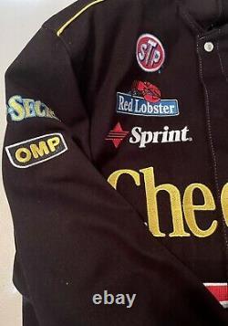 VINTAGE JH JACKET CHERRIOS RACING NASCAR Size L Large RARE