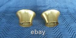 Very Rare Vintage 1970s Aluminum Gold Andonized Velocity Stacks MUST SEE