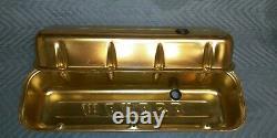 Vintage 1970s BBC Big Block Chevy Moroso Aluminum Gold Andonized Valve Covers