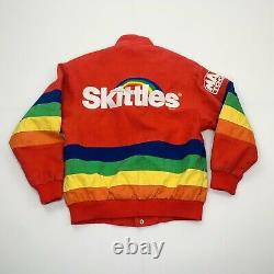 Vintage 1997 NASCAR Skittles Cope Chase Authentic Racing Jacket Coat Small