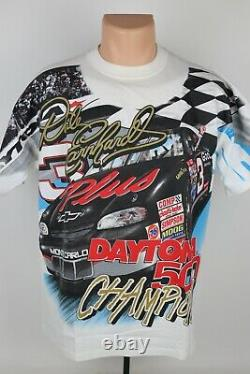 Vintage 1998 Dale Earnhardt NASCAR Daytona 500 Most Winning Champ Racing T Shirt