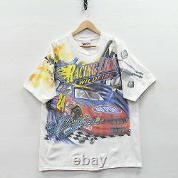 Vintage 2002 Jeff Gordon Dupont Racing Chase T-Shirt Large NASCAR All Over Print