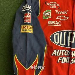 Vintage Chase Authentics Jeff Gordon 24 Nascar Racing Jacket L Flames Dupont JH