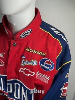 Vintage Chase Authentics Jeff Gordon 24 Nascar Racing Jacket XL Flames Dupont