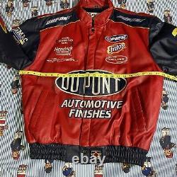 Vintage Chase Authentics Jeff Gordon Dupont Leather Jacket Jeff Hamilton LARGE