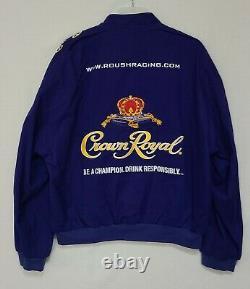 Vintage Crown Royal Roush Racing Team Jacket Size XL Purple NASCAR