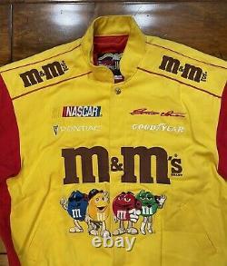 Vintage Ernie Irvan #36 M&Ms Racing Jacket Mens Size Medium NASCAR JH Rare