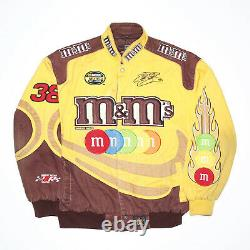 Vintage M&M'S NASCAR Racing Yellow 80s Woven Bomber Jacket Mens L