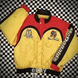 Vintage McDonalds Racing Team Jacket NASCAR OG Classic Elliot Adult Size Large