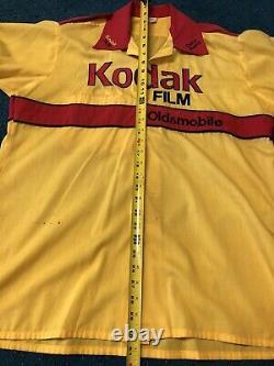 Vintage NASCAR 80s 90s Kodak Racing Pit Crew Uniform Jersey Race Used Rare Large