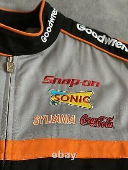 Vintage NASCAR Chase Authentics'Kevin Harvick' Motor Racing Jacket Varsity L