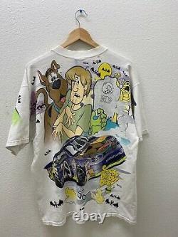 Vintage Nascar Cartoon Network Scooby Doo Wacky Racing T Shirt All Over Print XL