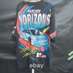 Vintage Nascar Mark Martin NEW HORIZONS T-Shirt ROUSH RACING Valvoline XL USA