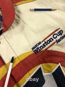 Vintage Ricky Rudd Tide Jeff Hamilton Leather Racing Jacket Size XL 90s NASCAR