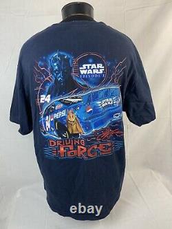 Vintage Star Wars T Shirt NASCAR Jeff Gordon Racing Movie Promo Tee 2XL 90s