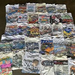 Vintage Wholesale T shirt 30 Lot Graphic 90s 00s Bundle NASCAR Classic Cars Race