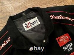 Vtg Nascar Dale Earnhardt JR Vintage Racing Jacket XL X-Large Black Red