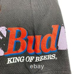 Vtg Rare NASCAR Budweiser Racing All Over Print T Shirt. Mens Large