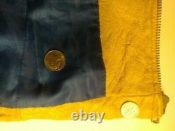 Yellow Leather Jacket Vintage Design Nascar Ken Schrader M&M's Racing Large