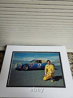 1979 Dale Earnhardt Sr Autographed Rookie Osterlund Wrangler #2 Signé P. Card