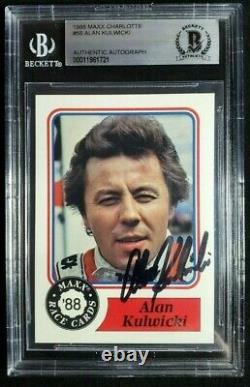 1988 Maxx #58 Alan Kulwicki Signé Rookie Card Autographe Rc Auto Bgs Bas Rare