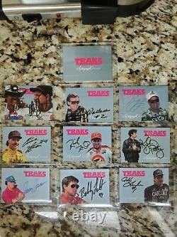 1992 Traks Autographié Dale Earnhardt Sr (9) Carte D'ensemble Complet Avec La Carte De Couverture