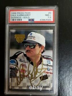 1998 Dale Earnhardt Sr Press Gold Pass Dédicaces Autographié Carte (45/100) Pop 1