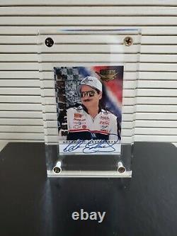 1999 Dale Earnhardt Sr Wheels High Gear Autographié Carte 01/100. Carte N ° 1 Signé