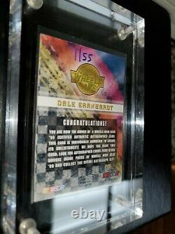 1999 Dale Earnhardt Sr Wheels High Gear Carte Autographiée 01/100. Carte #1 Signée