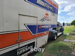 2001 Imperial Racing Trailer 45 Feet Nascar Alms Imsa Soulève Le Transport Électrique