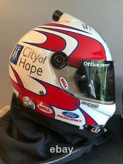 2007 Carl Edwards Signed, Race Used/worn Bell Drivers Helmet, Roush Fenway Ford