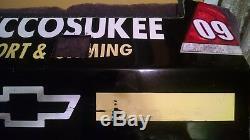 2009 Brad Keselowski Autographié # 09 Miccosukee Nascar Rookie Race Bumper D'occasion