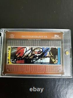 2009 Dale Earnhardt Sr Signé Topps Sterling Premium Cut Autograph (1/3). Rare