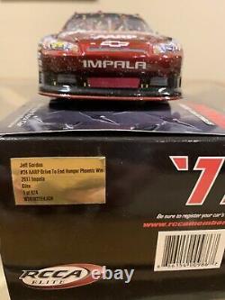 2011 Jeff Gordon 1/24 Aarp Drive To End Hunger Phoenix Raced Win Din #59 Of 626
