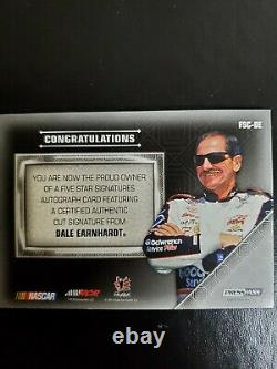 2013 Dale Earnhardt Sr Signé Press Pass 5 Star Autographed Card Very Rare