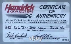 2017 Dale Earnhardt Jr Axalta Nascar Signé 7x7 Race D'occasion Sheetmetal Avec Coa (h)