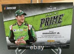 2018 Panini Prime Racing Dale Earnhardt Jr. Sur Carte Auto Triple Relic /10 Nascar