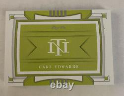 2020 National Treasures Racing Logo Auto Patch Book Carl Edwards #1/1 Sunoco