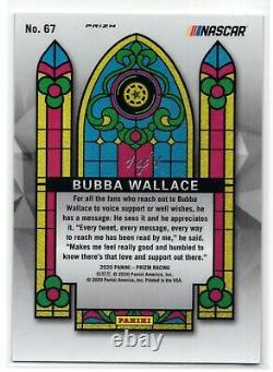 2020 Prizm Nascar Racing Bubba Wallace 1 De 1 Black Stained Glass No. 67 1/1 Nt