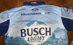 2020 Xlt Kevin Harvick Busch Light Pit Crew Shirt Race D'occasion Nascar Bristol Win