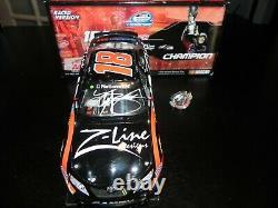 Autographe Kyle Busch 2009 #18 Z Line Nationwide Champion Avec Pin Version Racée