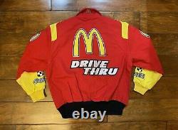 Bill Elliott #94 Mcdonalds Drive Racing Race Jacket Mens Taille Grand Nascar