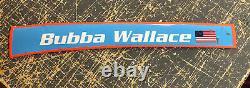 Bubba Wallace Richard Petty 43 Nom Ferroviaire Nascar Utilisé Sheetmetal