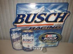 Busch Bière Racing Signal Nascar Série Busch Tin 2001 Very Rare