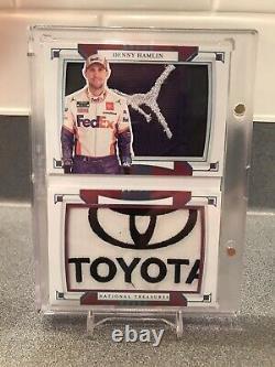 Carnet De Course Des Trésors Nationaux 2020 Denny Hamlin 1/1 Jordan Logoman Toyota