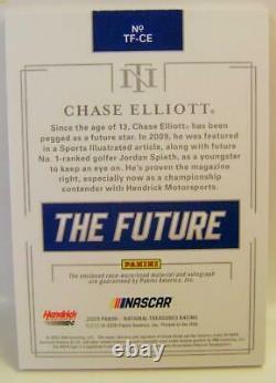 Chase Elliott #1 /10 Auto On Card Relic Nascar Panini Trésors Nationaux 2020