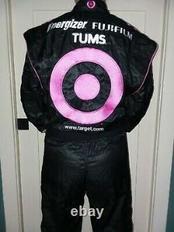 Course Utilisée Reed Sorenson Autographed Target Ganassi Racing Komen Nascar Firesuit