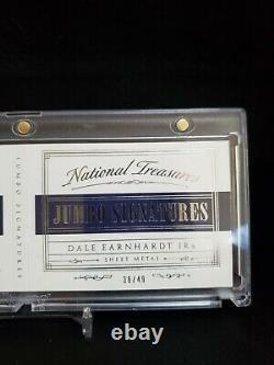 Dale Earnhardt Jr 2016 National Treasures Feuille De Course Metal Auto #39/49