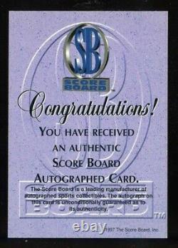 Dale Earnhardt Sr. 1997 Score Board Autograph Auto Bv 300 $