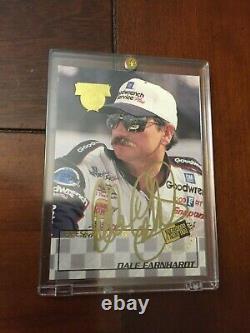 Dale Earnhardt Sr 1998 Press Pass Dédicaces Or Signature / 100